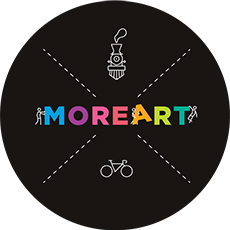 MoreArt logo with black background