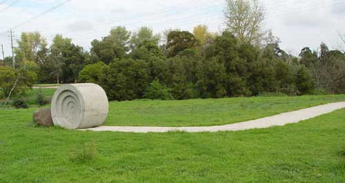 Rolling Path by Simon Perry - Sculptural concrete path. Public Art Program 1998/99.
