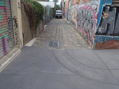 Leinster Grove Laneway following completion of works