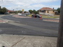O'HeaTurner & Derby Streets, Pascoe Vale Roadabout modification works