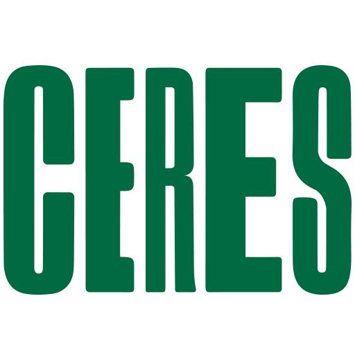 CERES logo which is the word 'CERES' in strong bold green letters