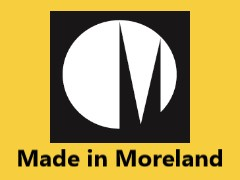 Made in Moreland logo with yellow background