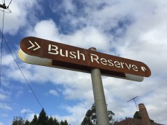 Bush Reserve Sign