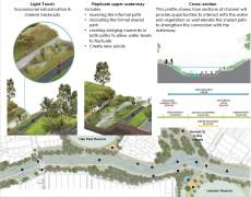 Options for the Moonee Ponds Creek naturalisation project