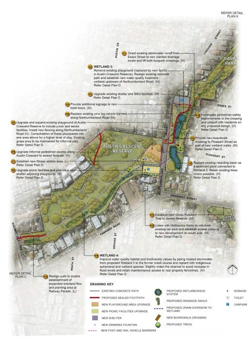 Gavin Park concept plan from Westbreen Creek Conservation and Development Plan