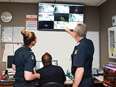 CCTV footage training at Brunswick Police Station
