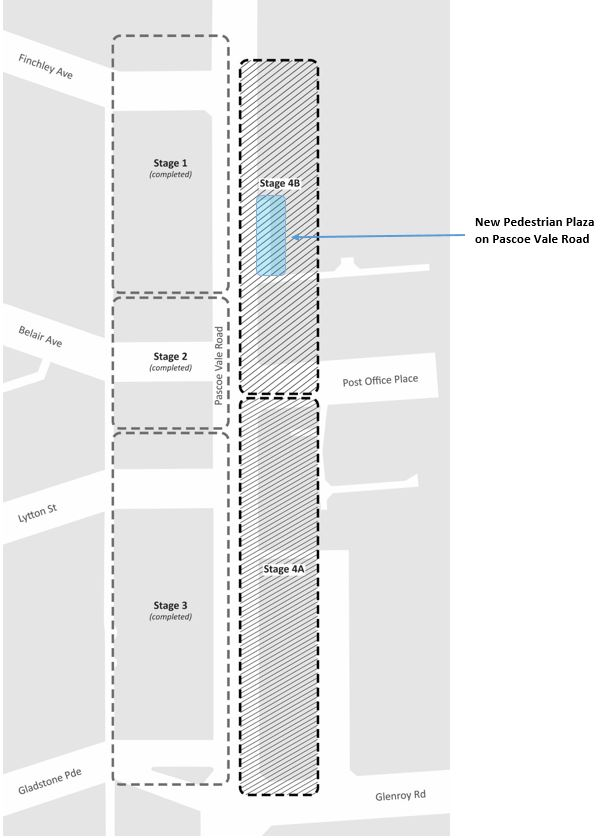 Pascoe Vale Road Streetpscape Improvements - Stage 4 - Staging Plan illustration