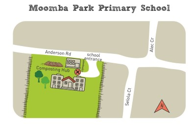 Composting hub moomba park map