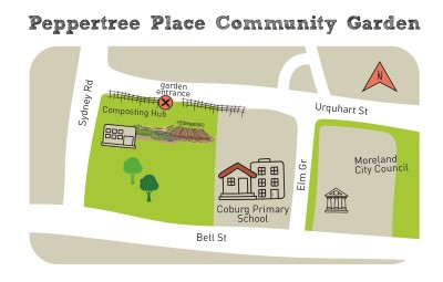 Composting hub peppertree place map