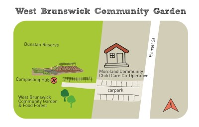 Composting hub west brunswick map