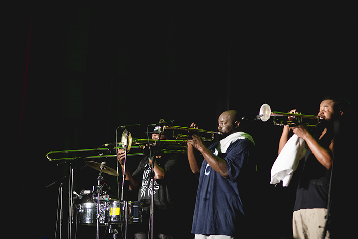 Hot 8 Brass Band performing at Brunswick Music Festival 2017