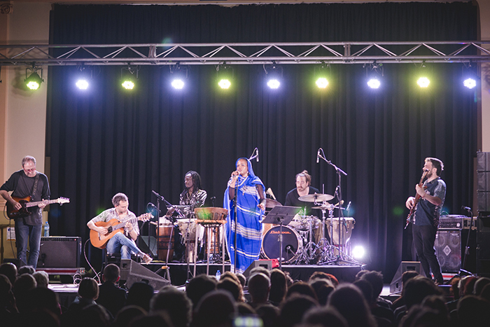 Aziza performing at Brunswick Music Festival 2017