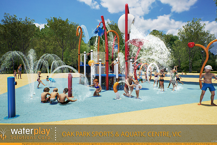 Oak Park Sports and Aquatic Precinct redevelopment concept drawing