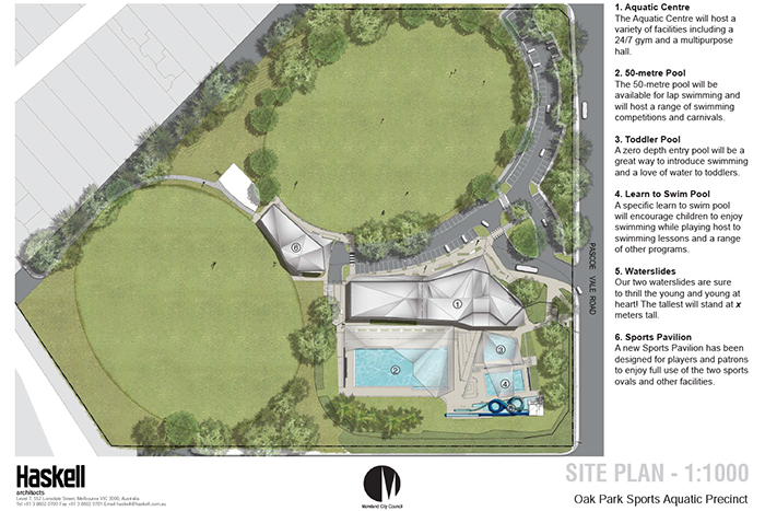 Oak Park Sports and Aquatic Precinct redevelopment concept