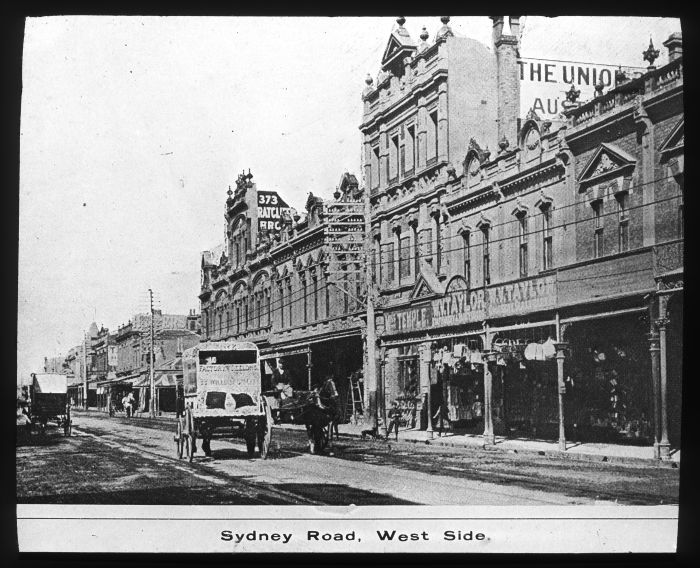 Sydney Road, west side.