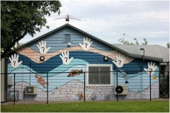 Recognise Mural on Robinson Reserve Neighbourhood House in Coburg
